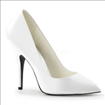 Sassy 5 Inch Heel White Patent Leather Women Shoe