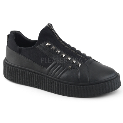 Domonia SNEEKER-125  Zip Front Low Top Sneaker
