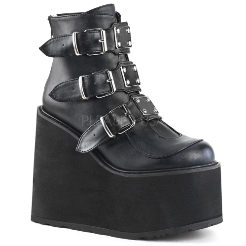 Domonia SWING-105 Buckle Strap Platform Ankle Boot