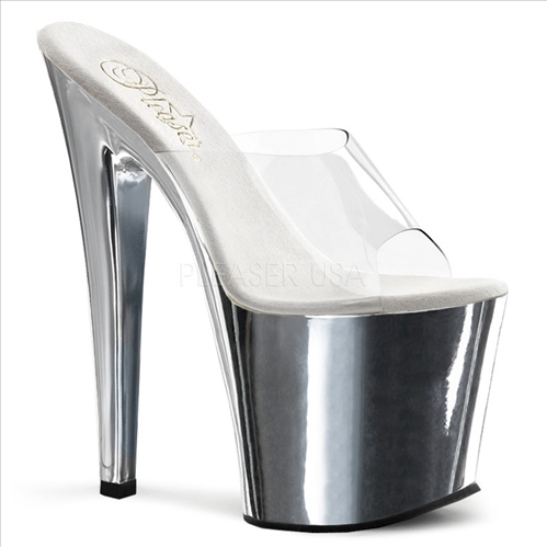 Chrome D-Shaped Heel Easy Walk Exotic Shoes