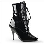 Vanity Vintage Shiny Black Patent Leather Boots