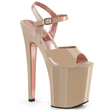 xtreme 809tt nude patent nude rose gold chrome