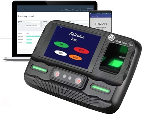 Biometric Time Clock CB4000 - web based WiFi ready with Palm, Face, Finger  scan included