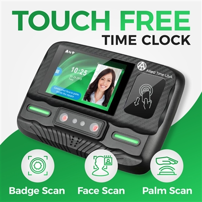 Employee Time clock system with RFID Badge, Palm Scan, and Face Recognition