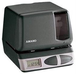 Amano PIX-21 Car Battery Time Clock