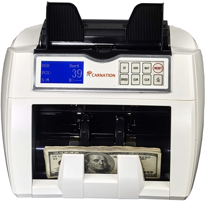 Carnation CR2 Bill Counter with Magnetic Ultraviolet and Infrared Counterfeit Detection