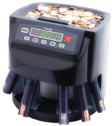 Cassida C200 Coin Counting Machine with Coin Tubes