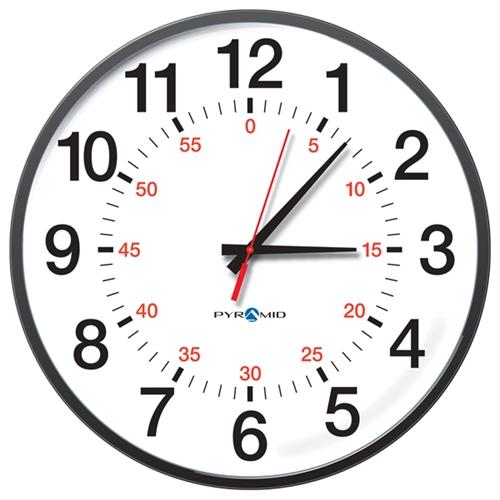 wireless analog clock for pyramid timetrax system