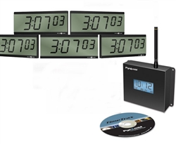 Wireless LCD Digital Battery Clocks 'Clocks in a Box' Bundle