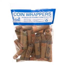 Bag of assorted coin preformed wrappers, 36 count
