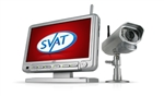 SVAT Digital Wireless DVR Security System 7' LCD Monitor with SD Card for Recording and Long Range Night Vision Camera