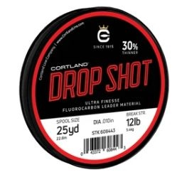Cortland Drop Shot Fluorocarbon Clear Leader Material
