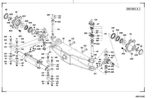 8fgcu25 steer axle assembly complete toyota oem -brand new - same day  shipping