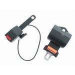 RBSB-ORANGE-NC-60-ELE : RETRACTABLE SEAT BELT (N/C) 60 Inches Electronic Safety switch Included