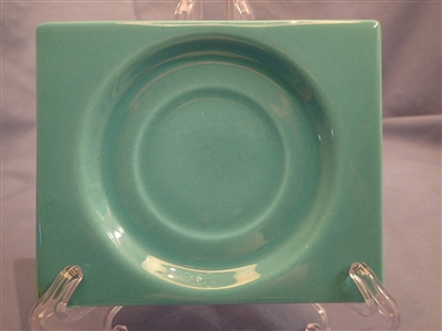 Saucer-Turquoise Blue #402t-Metlox Pintoria  (small repair)