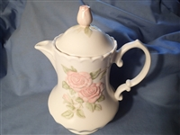Coffee Pot & Lid #400-Metlox Vernon Rose