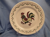 Dinner Plate California Provincial Green Rooster