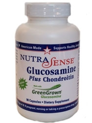 NutraSense Glucosamine Plus Chondroitin with GreenGrown 90 caps