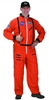 Adult Orange Astronaut Suit Small