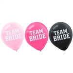 Team Bride Latex Balloons
