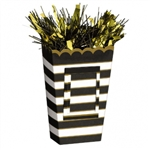 Black Stripes Popcorn Style Bag Balloon Weight