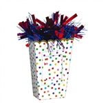 RAINBOW CONFETTI POPCORN BALLOON WEIGHT