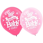 Welcome Little One Girl Latex Balloons