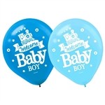 Welcome Little One Boy Latex Balloons