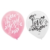 Love and Leaves Latex Balloons
