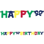 Happy Birthday Letter Banner - Primary Color