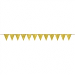 CREATE YOUR OWN GOLD PENNANT FOR BALLOONS