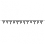 CREATE YOUR OWN SILVER SMALL PENNANT FOR BALLOONS