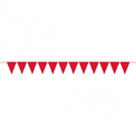 CREATE YOUR OWN RED SMALL PENNANT FOR BALLOONS