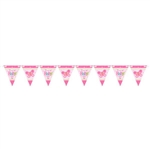 Welcome Little One Girl Pennant