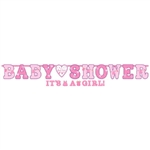 Shower with Love Girl Banner Co