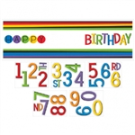 RAINBOW ADD ANY AGE GIANT BANNER SIGN