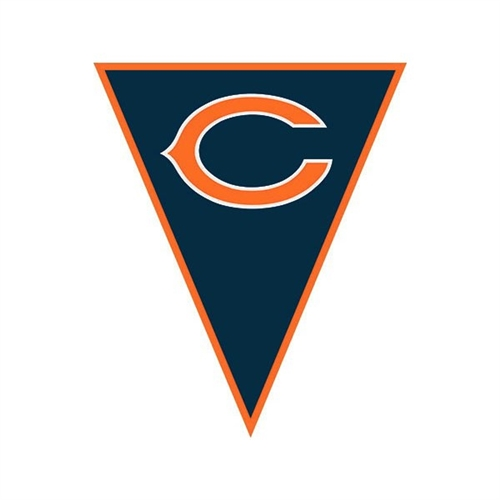 Chicago Bears Pennant Banner Bartzs Party Stores