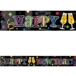New Year Foil Banner Jewel Tones