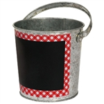 Picnic Party Chalkboard Metal Bucket