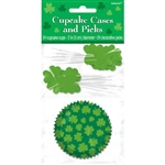 St. Patrick's Day Cupcake Cases and Party Picks
