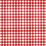 Picnic Party Red Check Basket Liners