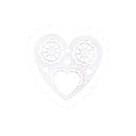 White Heart Doilies 3.5 inches