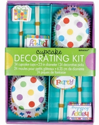 BDAY CUPCAKE DECOR KIT