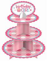1ST BIRTHDAY GIRL CUPCAKE STAND