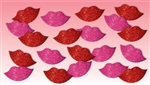 Glitter Lips Foam Stickers 60 Count