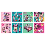 DISNEY MINNIE MOUSE SQUARE STICKERS