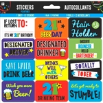 Brillant Birthday 21st Sticker Sheet