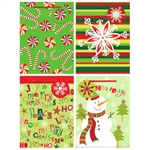 CHRISTMAS MEDIUM  GIFT BAGS 4CT