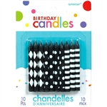 Black and White Assorted Birthday Candles