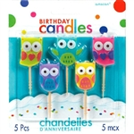 Owls Molded Birthday Candles